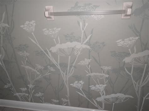 Bathroom Stencil Ideas Bathroom Wall Stencil Contemporary Other Metro By
