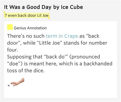 s day lyrics meaning 7 even back door lil joe it was a day lyrics meaning