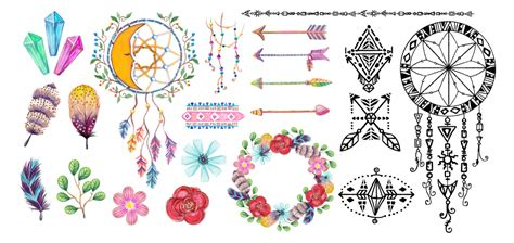 free vector watercolor bohemian feather pattern download free download watercolor bohemian elements and