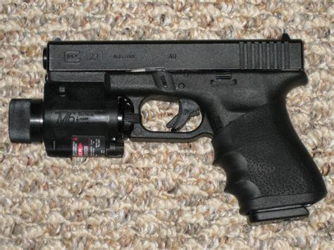 glock 17 tactical light file glock model 23 with tactical light and laser sight