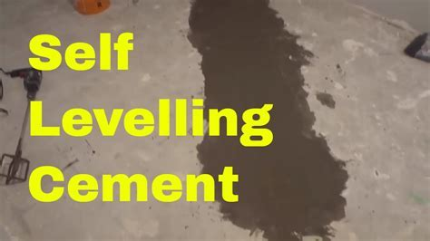 Using Self Levelling Cement In My Basement DIY Levelling A