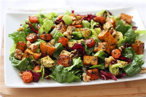 roasted root vegetable salad recipe weekend recipes roasted veggie salad be well with