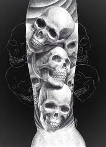 sketch of skull tattoo meaning and designs tattoomagz