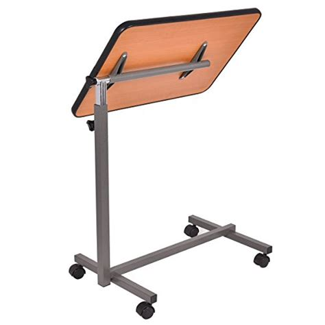 hospital bed tray table overbed rolling table over bed laptop food tray hospital