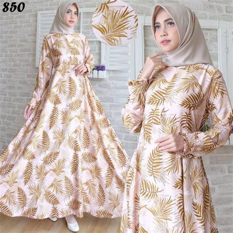 Jilbab Maxmara Square Maxmara Daun gamis modern maxmara motif daun c850 baju muslim cantik