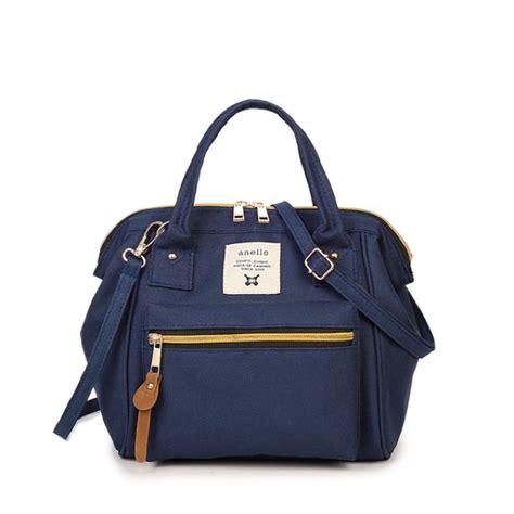 navy blue colour mini anello boston bag 3 in 1 ways sling bag backpack bag