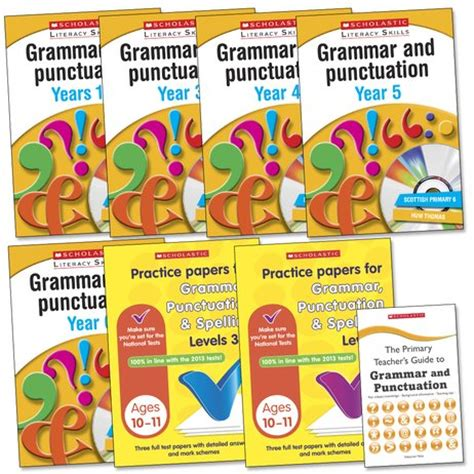 1407140701 grammar and punctuation years scholastic literacy skills grammar and punctuation pack