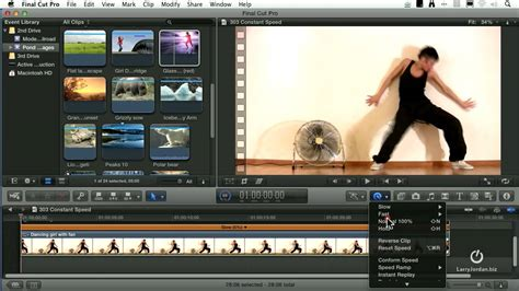 final cut pro how to speed up clip changing clip speed in final cut pro x youtube