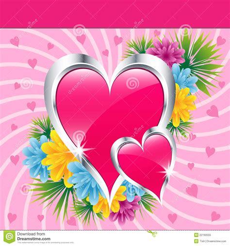 imagenes rosas con corazones corazones y flores rosados del amor foto de archivo libre