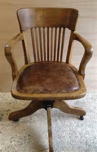 Antique Captains Desk Chair Vintage Oak Swivel Desk Captains Chair