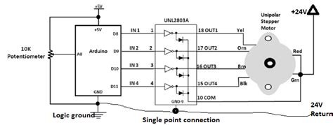 transistor driver stepper motor arduino can a motor driver for 5v be used for a 24v motor electrical engineering stack exchange
