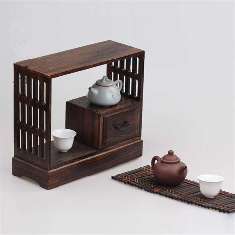 wood furniture storage home decor accessories japanese antique decorative wood wall shelf for tea living