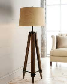 Wood tripod floor lamps for living room traditional floor lamps