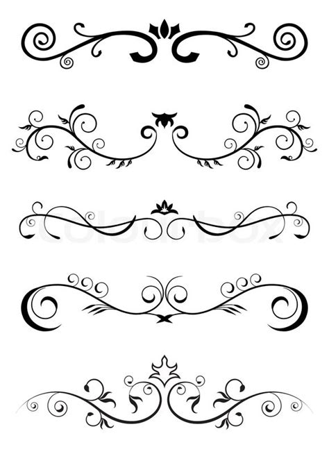 patterns black and white border designed borders floral pattern stock vector colourbox