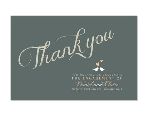 engagement thank you card template printable diy engagement thank you card custom we re