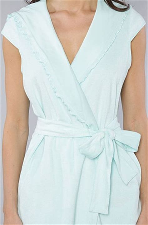 Dress Flow Babyterry betsey johnson the baby terry wrap robe in jamaica blue in