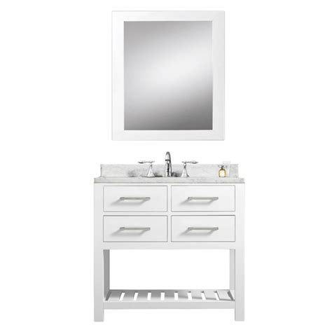 30 Inch White Bathroom Vanity 30 Inch Single Sink Bathroom Vanity In White Uvwcmadalyn30w
