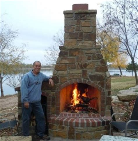 Outdoor Fireplace Cooking by Bob Cook Homes Llc Outdoor Fireplaces