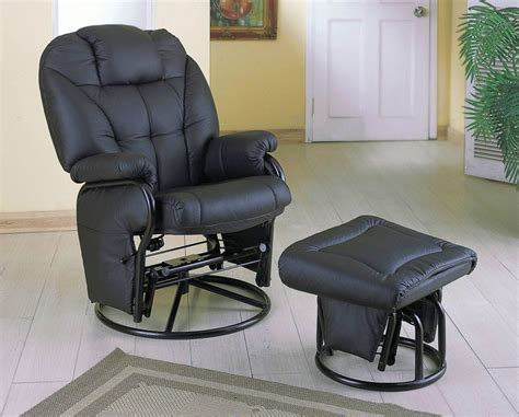 swivel glider chair with ottoman comfort swivel glider chair with ottoman in black