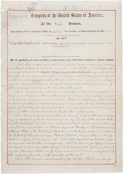 sherman antitrust act section 1 cioccahistory sherman antitrust act second