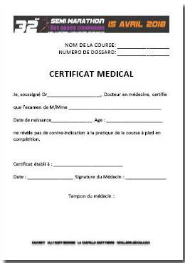 Modèle De Certificat Médical