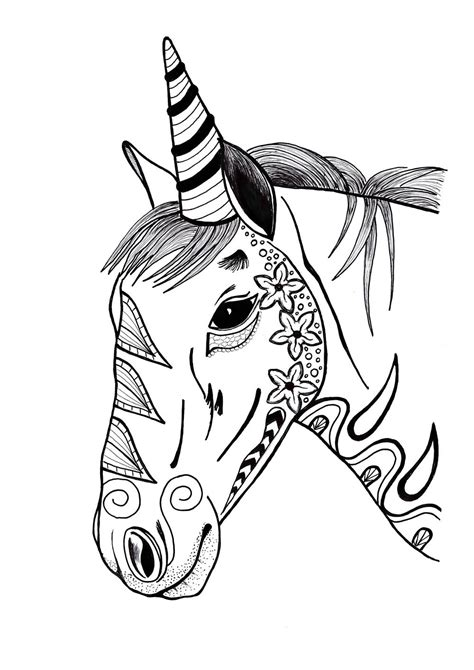 unicorn mandala coloring pages colorful unicorn coloring page favecrafts