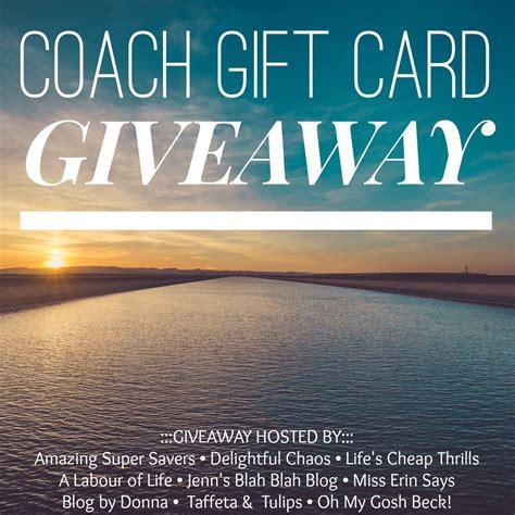 Coach Giveaway - summer uniform coach giveaway taffeta and tulips