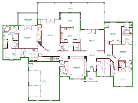 Split Level Ranch House Interior Split Ranch House Floor Single Level House Plans