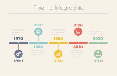infographic timeline vector template 02 vector business