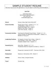 Student Activity Resume Template by Best Photos Of Resume Template High School Activities