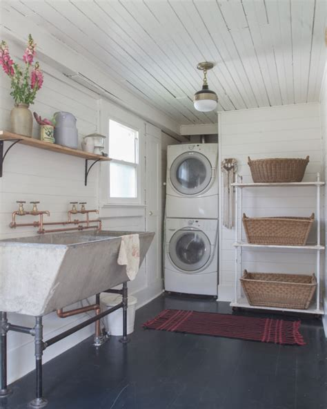 industrial laundry room remodelaholic industrial laundry room mini makeover