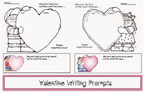 valentines day writing prompts classroom freebies writing prompts