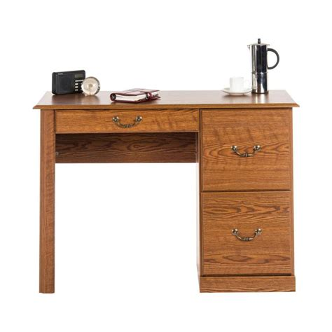 home office desk oak teknik home office desk carolina oak staples 174