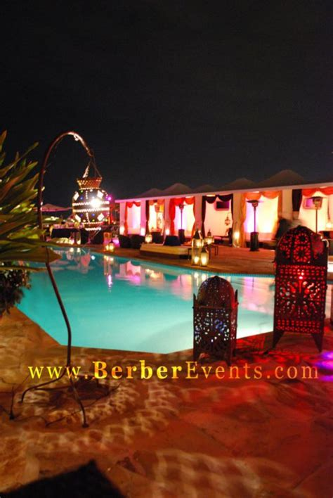 theme hotel nights moroccan theme party at the rooftop pool of the mayfair