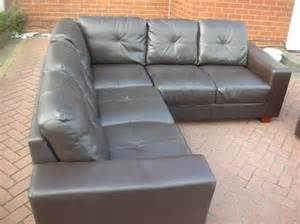 brown leather corner sofa for sale dudley dudley