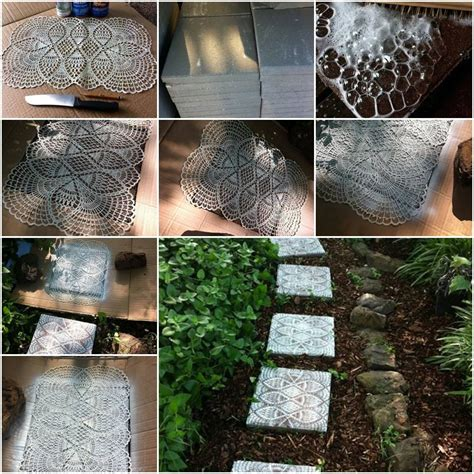 to make beautiful how to make beautiful lace like backyard stepping stone