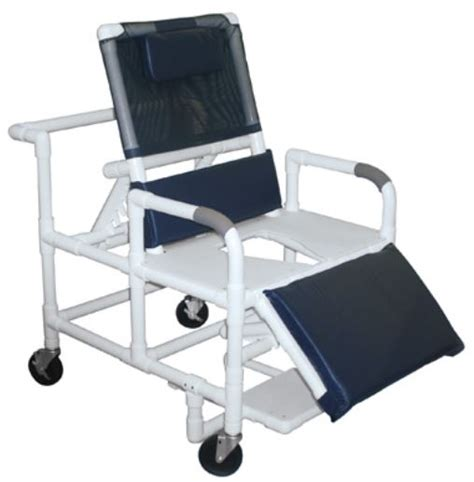 Reclining Shower Commode Chair by Lumex Pvc Reclining Shower Commode Chair