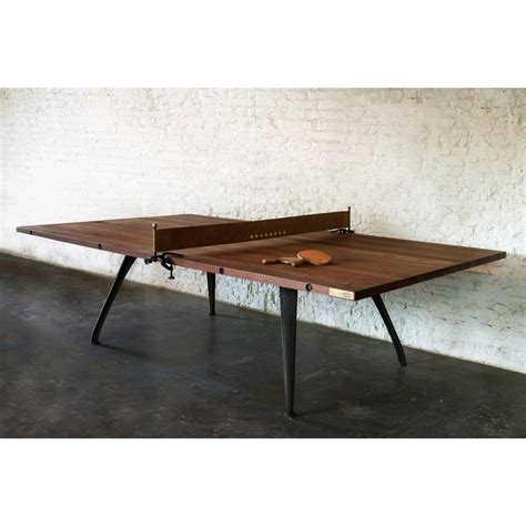 Wood Ping Pong Table by Palazzo Industrial Loft Wood Metal Ping Pong Table Kathy