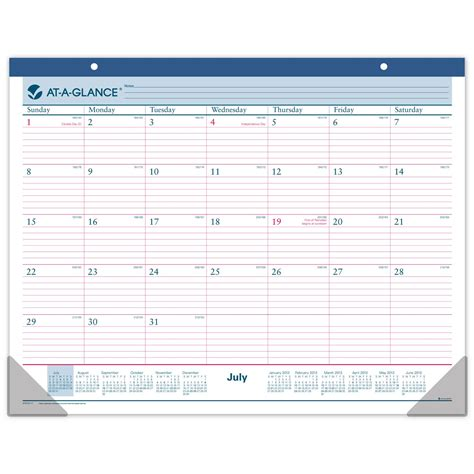 Academic Year Desk Pad Calendar by Monthly Desk Pad Wall Calendar Academic Calendar