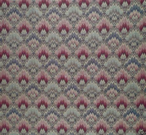 flame pattern fabric uk lee jofa flame stitch woven remnant new ebay