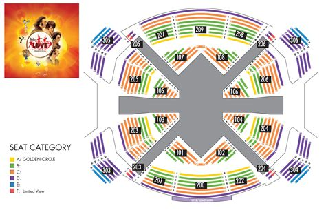 beatles tickets seating chart the beatles by cirque du soleil 174 at the mirage