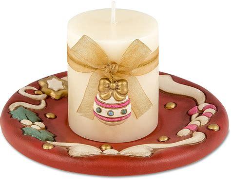 candele thun portacandela rosso con candela thun
