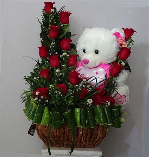 imagenes de rosas y peluches rosas rojas con peluche flowers centerflowers center