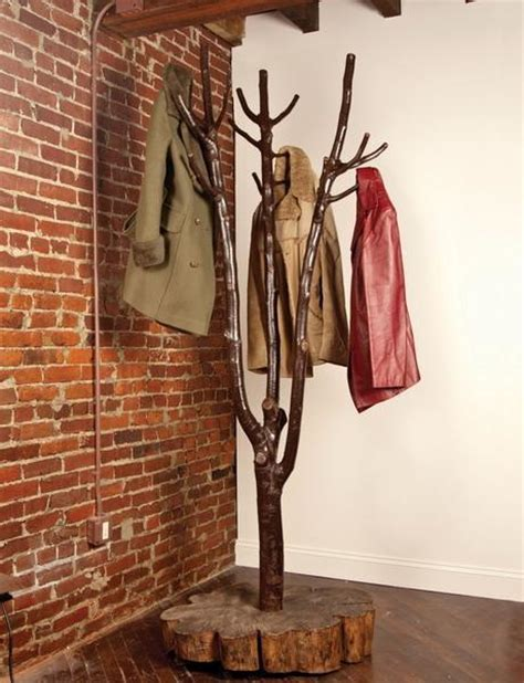 Modern Brach Clothing Rack 30 Diy Tree Coat Racks Personalizing Entryway Ideas With Inspiring Designs