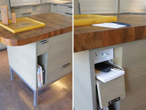 kitchen island steckdose kitchen design idea hide your electrical outlets