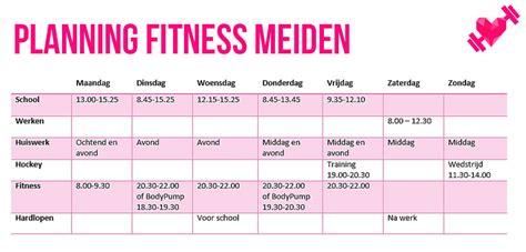 planning out the week fitness geekiness fitness meiden