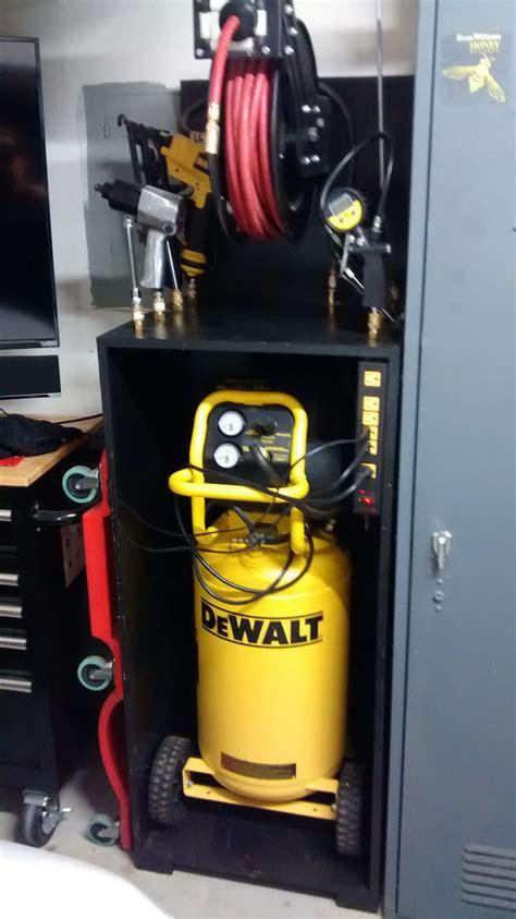 air compressor storage diy garage plans diy garage