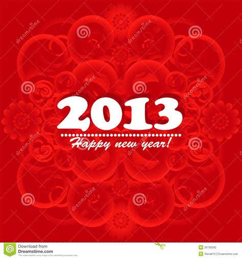 new year card 2013 stock photography image 26790592