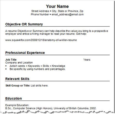 Sample Resumes For Freshers Engineers by Get Your Resume Template Three For Free Squawkfox