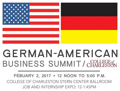 College Of Charleston School Of Business Mba by 1st College Of Charleston German American Business Summit